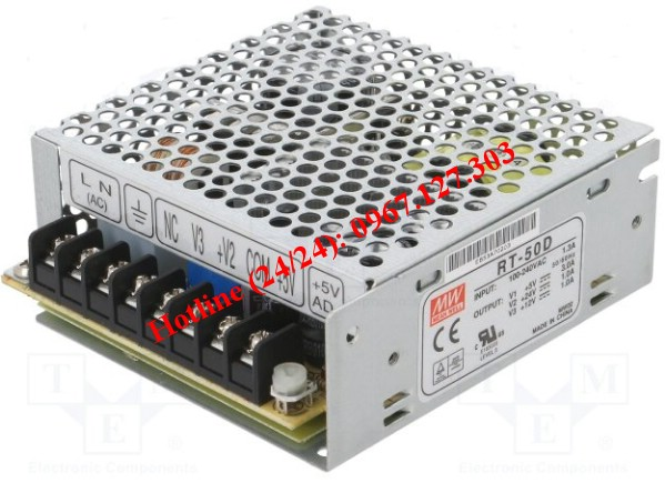 MEAN WELL RT-50D (5V/3A, 12V/1A, 24V/1A)