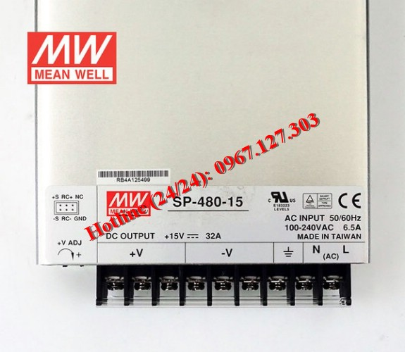 MEAN WELL SP-480-15 (15V/32A)